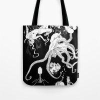 octopus Tote Bags featuring Octopus by Elias Aquino
