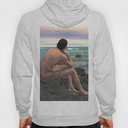 Nude Male by the Sea Hoody