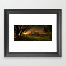 Sunset In The Countryside Framed Art Print