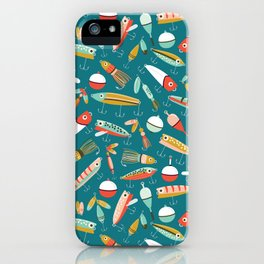 Fishing Lures Blue iPhone Case
