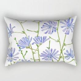 blue chicory watercolor Rectangular Pillow