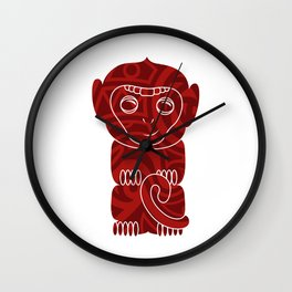 Tiki Monkey Wall Clock