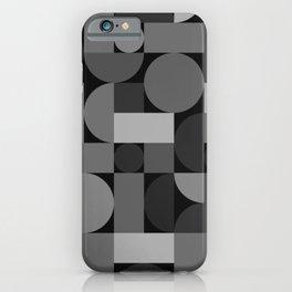 Mid Century Modern Geometric Gray iPhone Case