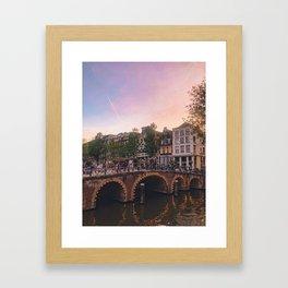 An Evening Stroll through Amsterdam Framed Art Print