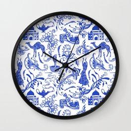 Arabian Nights // China Blue Wall Clock