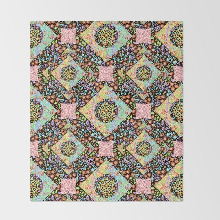 Boho Throw Blankets Extraordinary Boho Chic Patchwork Throw Blanket By Patriciasheadesigns Society60