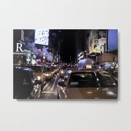 Taxicabs Metal Print