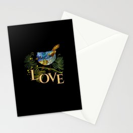 Love Bird Embroidery Stationery Cards
