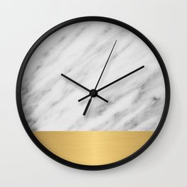 Carrara Italian Marble Holiday Gold Edition Wall Clock