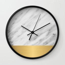 Carrara Italian Marble Holiday Gold Edition Wall Clock