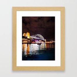 Sydney Bridge at Night Framed Art Print