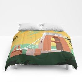 Vintage Bristol Poster Comforters