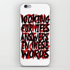 Wisdom.. iPhone & iPod Skin