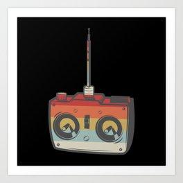 Remote RC Car Model Retro Art Print