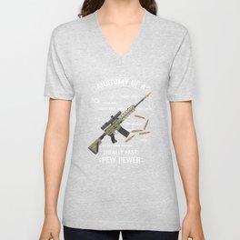 Anatomy Of A Pew Pewer - Funny American Patriotic Gun Saying Unisex V-Neck