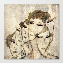 Silence shower Canvas Print