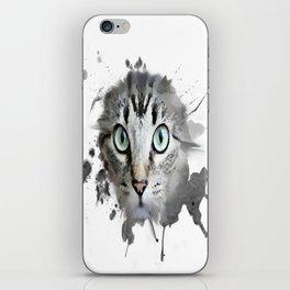 Cat Eyes Watercolor iPhone Skin