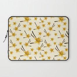 Watercolor Vanilla flowers / pattern Laptop Sleeve
