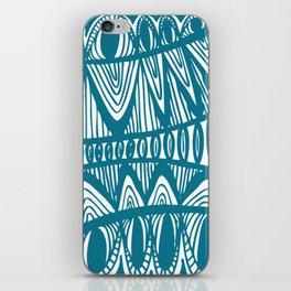 Original Creative blue pattern illustration iPhone Skin