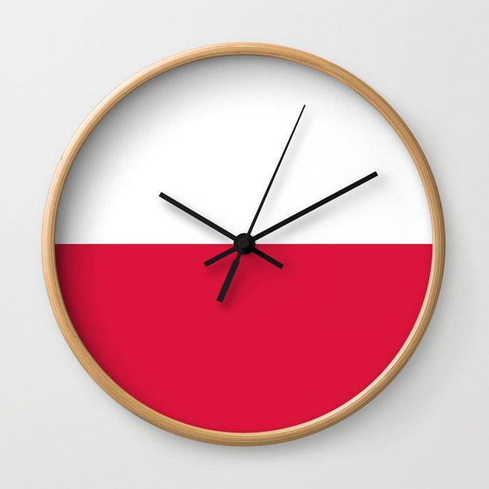 National flag of Poland Wall Clock