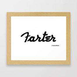 Farter Framed Art Print