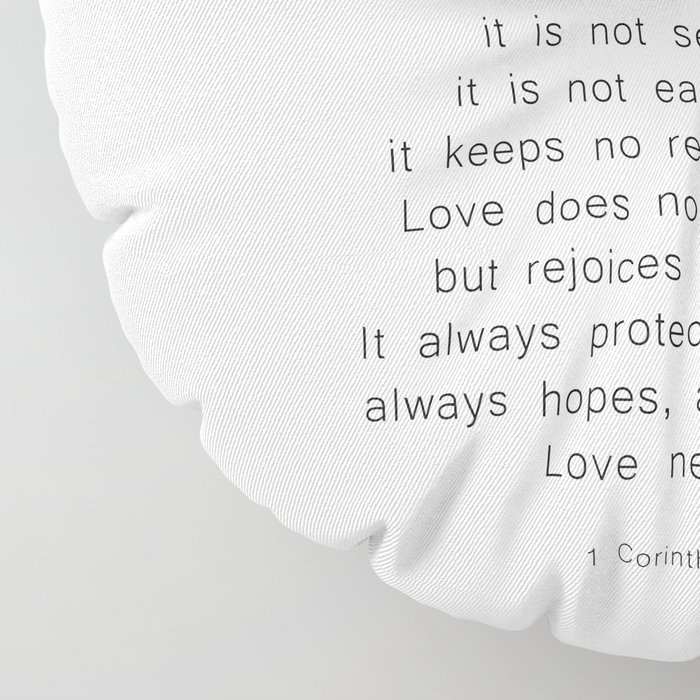 Love Never Fails #minimalism Floor Pillow