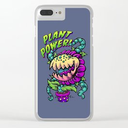 Plant Power! Clear iPhone Case