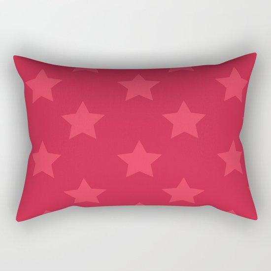 Red stars Rectangular Pillow