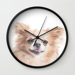Chihuahua - The Cute Cheerful Small Dog Wall Clock
