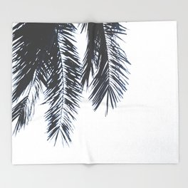Palm Tree leaves abstract Throw Blanket