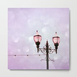 Lamplight of Cotton Candy Dreams Metal Print