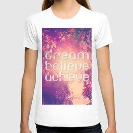Autumn Sunshine and Pink Purple Maple Trees T-shirt