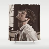 castiel Shower Curtains featuring Castiel captured  by Zomberflie