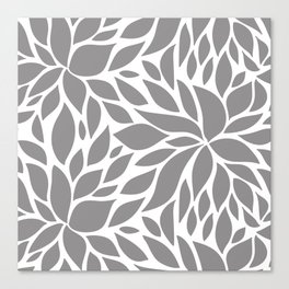 Bloom - Gray Canvas Print