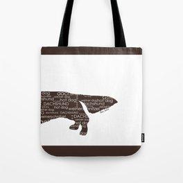 Half a Hot Dog (Back) - Dark Chocolate Brown Tote Bag