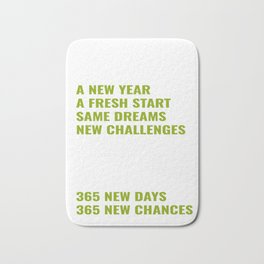 365 New Days New Changes Happy New Year 2020 January 1st Fireworks Resolution Holiday T-shirt Design Bath Mat