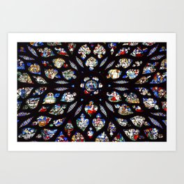 Stained glass sainte chapelle gothic Art Print