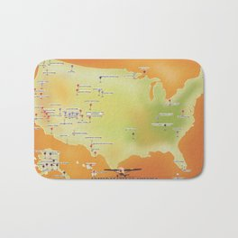 united states of american national parks map Bath Mat