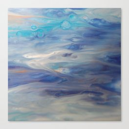 Ethereal Skies - Abstract Acrylic Art by Fluid Nature Canvas Print