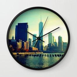 Fall Colors in Lower Manhattan Wall Clock