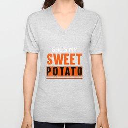 She's My Sweet Potato Unisex V-Neck