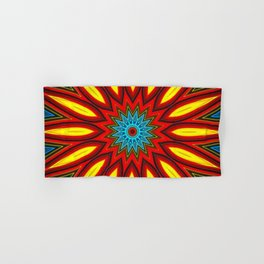 Bright Multi Color Mandala Hand & Bath Towel