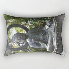 Tea Garden Buddha Rectangular Pillow
