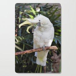 Sulfur-Crested Cockatoo Salutes the Photographer Cutting Board