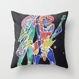 Guitar Girls Throw Pillow