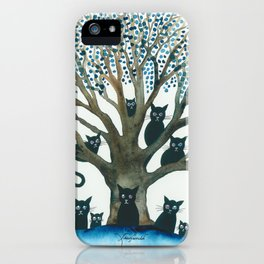 Lombardy Whimsical Cats in Tree iPhone Case
