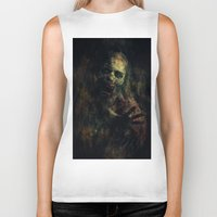 zombie Biker Tanks featuring Zombie by Sirenphotos