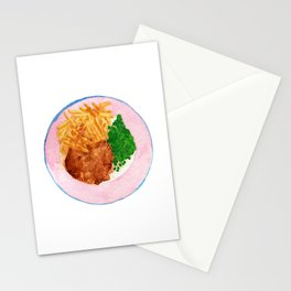 Watercolor Chicken Pot Pie Dinner #1 by Artume Stationery Cards