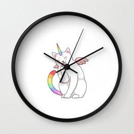 CATICORNS ARE BORN IN JANUARY, Cat Lover, Unicorn Lover, Birthday Party, Capricorn Gift Wall Clock