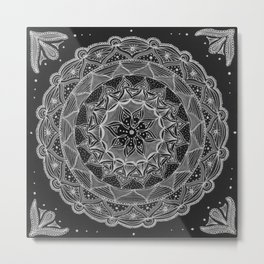 Zendala - Zentangle®-Inspired Art - ZIA 50 Metal Print
